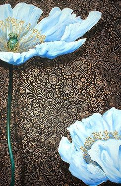 Cherie Roe Dirksen. South African artist. Love the detail in the background
