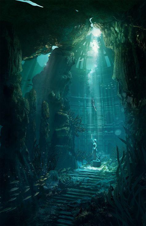 Portrait photography Underwater landscape, Underwater d Underwater Drawing, Underwater City, Jellyfish Drawing, Watercolor Jellyfish, Jellyfish Painting, Jellyfish Tattoo, Underwater Tattoo, Underwater Quotes, Underwater Flowers