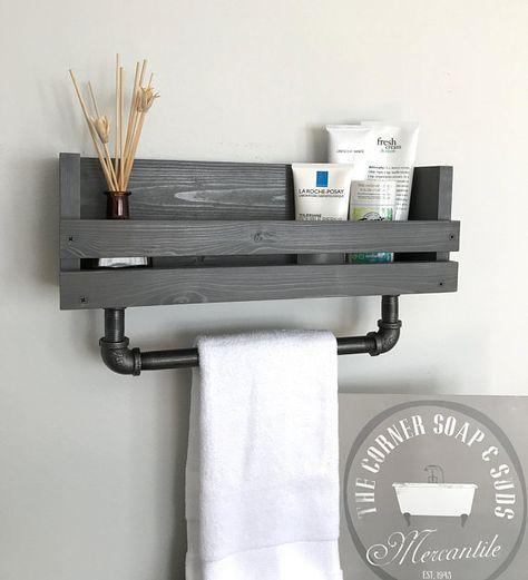 19 Ideas Bath Room Shelf Above Toilet Towel Racks In 2020 Bathroom Towel Bar Bathroom Toilet Paper Holders Diy Bathroom Design