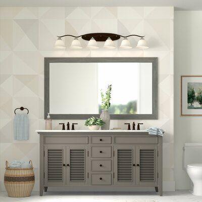 Landover Rustic Bathroom Vanity Mirror Size 49 5 X 30 5 Finish Gray Rustic Bathroom Vanities Distressed Bathroom Vanity Bathroom Vanity Mirror