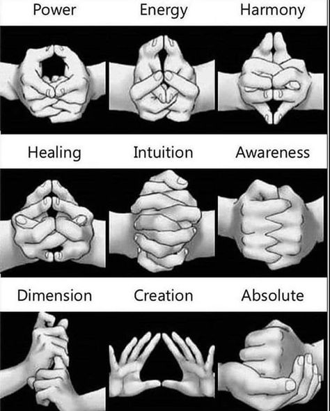 9 Mudras and their meanings! Mudras are hand gestures used during meditation that channel your energy flow towards specific goals. Healing Meditation, Chakra Healing, Meditation Hand Positions, Hand Mudras, Les Chakras, Martial Arts Techniques, Yoga Mantras, Book Of Shadows, Ayurveda