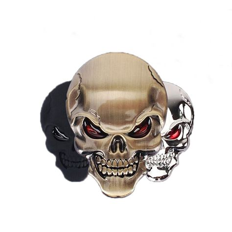 3d Metal Skull Car Sticker Price 899 Free Shipping
