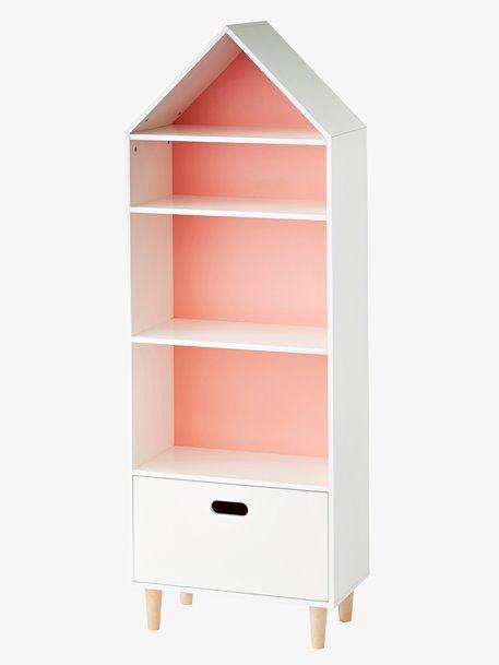 Meuble De Rangement Maison 5 Cases Blanc Vertbaudet Rangement Maison Meuble Rangement Decoration Chambre Enfant