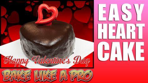 Easy Mini plain cake recipe - Valentine's Cake
