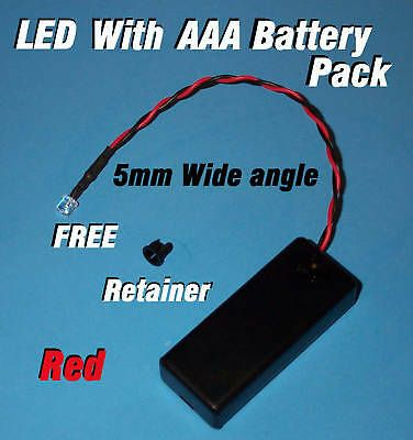 5mm Led Aaa Battery Pack Switch Red Wide Angle Halloween Projects Diy Wide Angle Battery Pack Halloween Projects