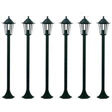Lampioni Per Giardino.Vidaxl Lampioni Giardino Lanterne 6xh110cm Verde Scuro