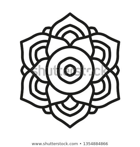 Simple Mandala Shape For Coloring Vector Mandala Floral Flower Oriental Book Page Outline Einfaches Mandala Vektorgrafik Grafik