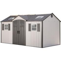 Lifetime Plastic Tool Shed Castle 2 44 X 4 57 M Wall Thickness 26 Lifetime Outdoor Storage Castle Lifeti In 2020 Outdoor Storage Sheds Shed Plans Garden Buildings