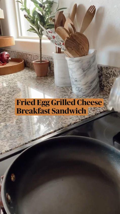 Fried Egg Grilled Cheese Breakfast Sandwich