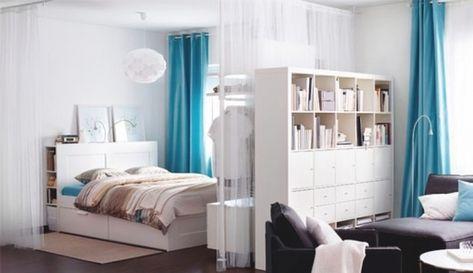 Wohn Und Schlafzimmer In Einem Raum Ideen Wohnung Einrichten