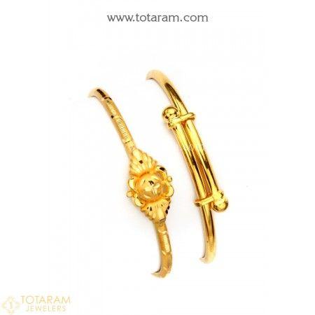 22k Baby Bangles Kids Gold Jewelry Baby Bangles Gold Bracelet
