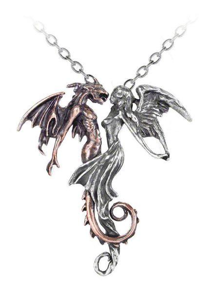 Epiphany Of St Alchemy England Dove Raven Black Gothic Heart Corvus Necklace