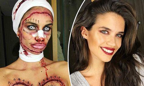 VS Angel Sara Sampaio looks unrecognizable in plastic surgery costume