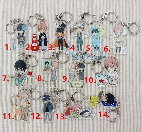 Anime 10 Ten Count Kurose RIKU Tadaomi Shirotani Rubber Strap Keychain Charm