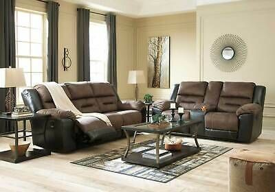 New Living Room Furniture Brown Fabric Vinyl In 2020 Modern Living Room Brown Loveseat Living Room Sofa And Loveseat Set