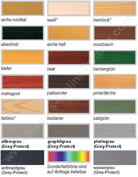 Standardfarbtone Remmers Hk Lasur Holzlasur Holzschutz Holz