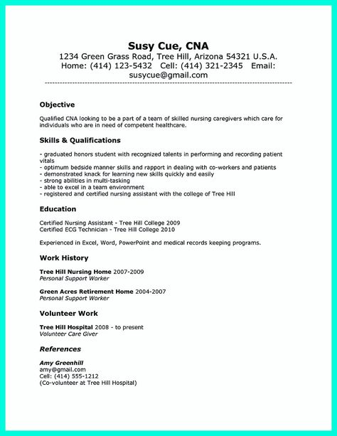 Check out this sample of a CNA resume Resumes are vital to - resume for cna