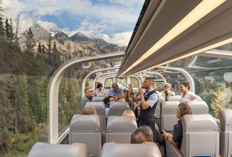 This Glass-domed Train Through the Canadian Rockies Is One of the Most Scenic Rides in the World Take scenic trip in glass-domed train through Canadian Rockies - INSIDER Oh The Places You'll Go, Places To Travel, Travel Destinations, Ayurveda Massage, Rocky Mountaineer Train, Western Canada, Train Journey, Canadian Rockies, Banff National Park