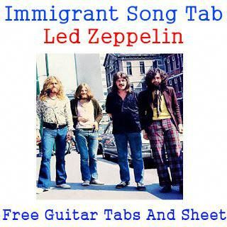 Immigrant Song Guitar Tab Led Zeppelin Immigrant Song Tabs Led