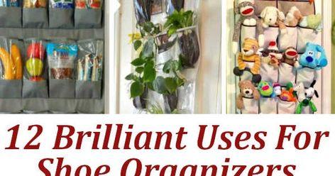 Brilliant Uses For Shoe Organizers. #DIYHSH #DIY #Organize #GetOrganized