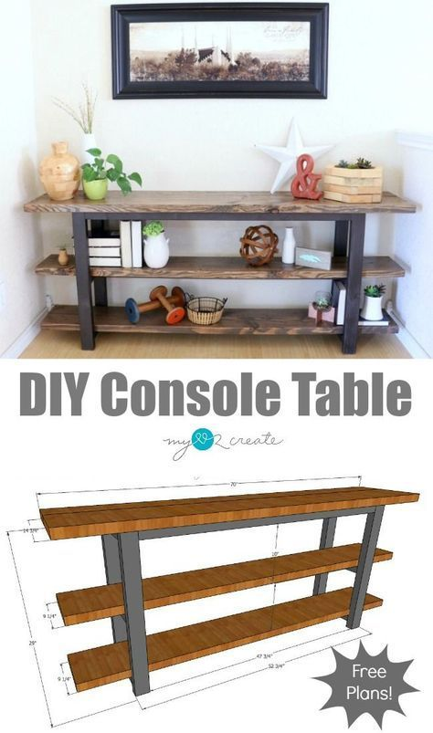 Corner L Shaped Workbench Plans Diy Console Table Diy Furniture Plans Furniture Projects