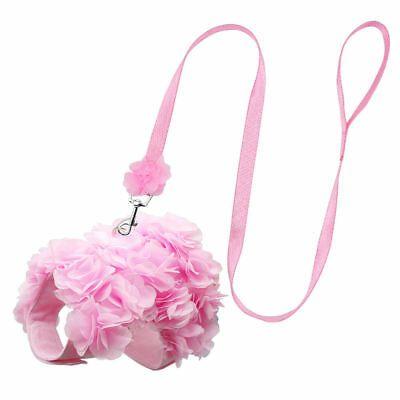 Pequeña flor rosa de Bling Arnés De Mascotas