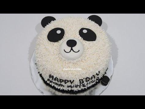 Tanpa Spuit Cara Membuat Kue Ulang Tahun Yang Mudah Panda Cake Youtube Panda Birthday Cake Make Birthday Cake Panda Cakes