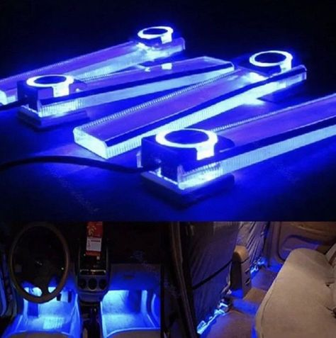 Details About 4x Led 12v Dc Car Auto Interior Atmosphere Footwell