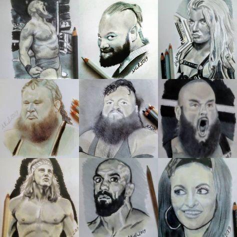 A few of my latest Wrestling sketches  #larssullivan #braywyatt #tonistorm #otis #davemastiff #braunstrowman #mattriddle #arturoruas #mariakanellis #sketches #wwe #nxt #fanart #loveart #art #artist #wrestling #wrestler #wrestlinglife #illustration #tattoos #sketchbook #norwichartist #norwich #artsy #wwefanart #nxt @wwe @wwenxt