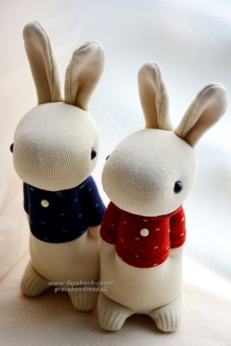 Grace--#327+#328 Sock Domy Rabbits