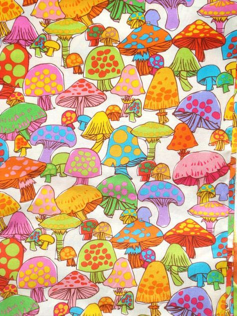 art Groovy mushrooms Timeless Treasures F - Collage Foto, Photo Wall Collage, Picture Wall, Hippie Wallpaper, Retro Wallpaper, Foto Poster, Bedroom Wall Collage, Mushroom Art, Psychedelic Art