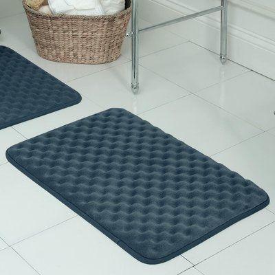 Breakwater Bay Witmer Micro Plush Memory Foam Bath Mat Size 17 W