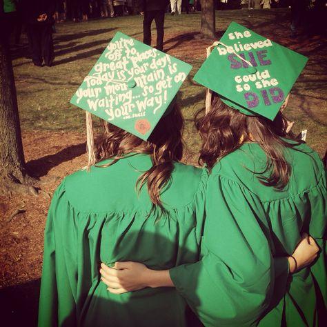 MSU graduation - decorated grad caps