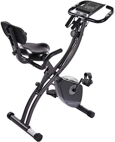 Great For Maxkare 2 In 1 Stationary Bike Folding Magnetic Indoor Exercise Bike With Adjustable Arm Res Biking Workout Best Exercise Bike Recumbent Bike Workout