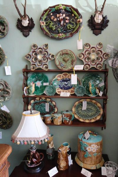 Majolica Items From Antiques From Trilogy Majolica Majolica Pottery Colorful Pottery