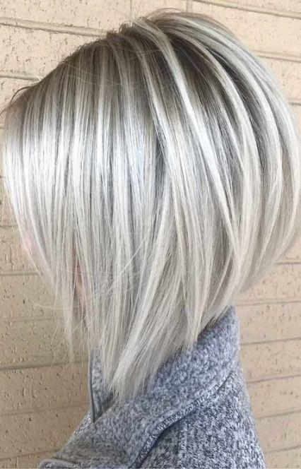 Hair Color Blonde Grey Bob Hairstyles 46 Super Ideas Straight Blonde Hair Blonde Hair Shades Short Hair Styles
