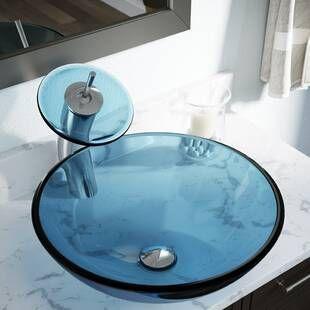 Maestro Bath Diamante Luxury Crystal Vessel Sink Sink Glass