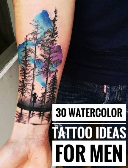 30 Eye Catching Watercolor Tattoo Ideas For Men