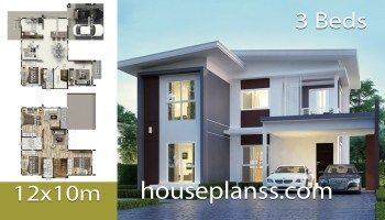 House Plans Design Idea 13x8 With 3 Bedrooms House Plans 3d 4 Bedroom House Plans House Plans Modern House Plans