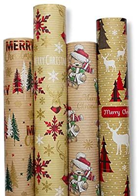 Amazon Com Christmas Gift Wrapping Paper White Red Blue With Pattern 5 Roll 30 Inch In 2020 Xmas Wrapping Paper Christmas Wrapping Paper Christmas Gift Wrapping Paper