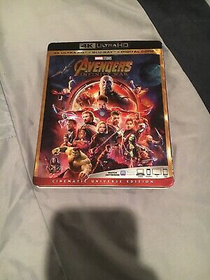 Avengers Infinity War 4k With Blu Ray 2 Pack No Digital Code 786936858112 Ebay Infinity War Avengers Best Avenger