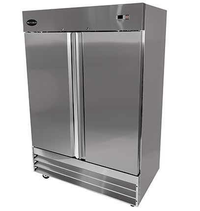 Saba S 47f Reach In Freezer Two Section Solid 2 Door 47 Cu Ft Erisequip Solid Doors Adjustable Shelving Upright Freezer