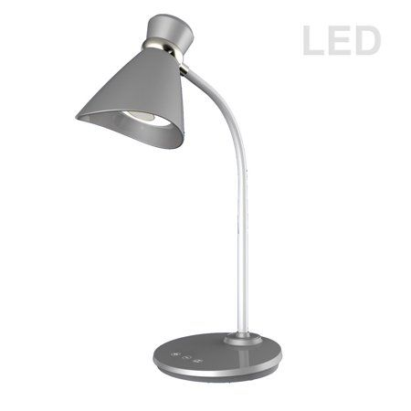Dainolite 132ledt Sv 6w Led Desk Lamp Silver Finish Silver Desk