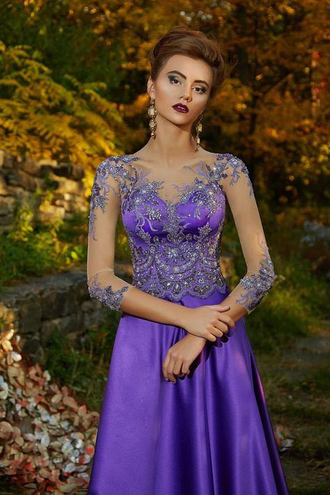 ea9db3a4b00 Платье фиолетового цвета Lorange Kamela. Купить вечернее платье в салоне  Валенсия (Москва)