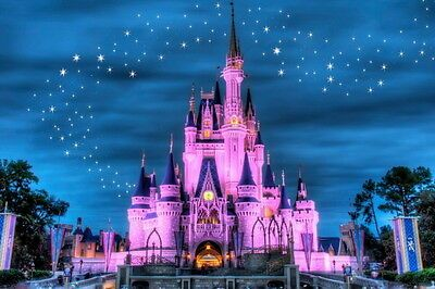 Disney Castle Princess Star Night 3d Wallpapaer Wall Decals Wall