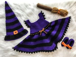 Free Witch Costume Crochet Pattern Baby Witch Costume Crochet Pattern Crochet Baby Costumes Crochet Baby Patterns Crochet Costumes