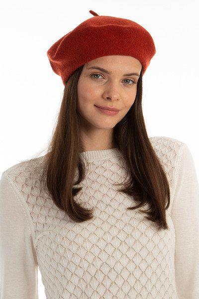 Brick Red French Beret Painters Hat Women Felt Beret Women Etsy Winter Hats For Women French Beret Summer Hats For Women
