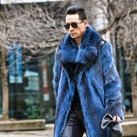 Men and Leather - Farleychatto fur coat.