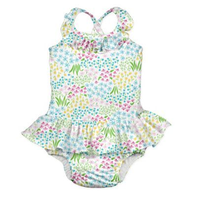 I-Play Baby-Girls One-Piece Swimsuit with Built-in Reusable Swim Diaper One Piece Swimsuit