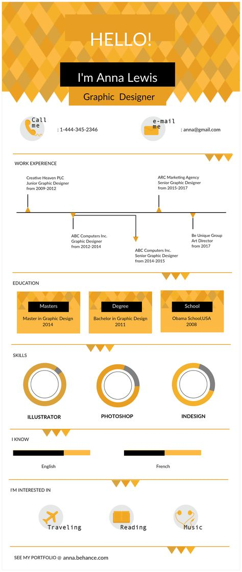 Want To Make Sure That Your Resume Impresses Next Recruiter Here Are 5 Free Editable Infographic Templates Get Job You
